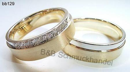 Besondere eheringe gold  Trauringe & Eheringe Online Shop - 585er bicolor Trauringe bb129